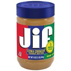 Jif Extra Crunchy Peanut Butter USA 454g.