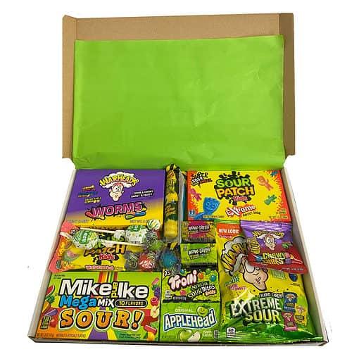 Sour Box met de zuurste snoep favorieten - 19 delig - Medium.