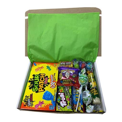 Sour Box met de zuurste snoep favorieten - 13 delig - Small.