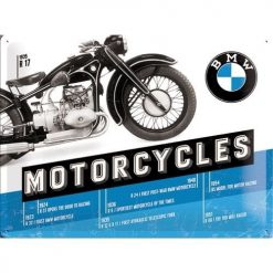 Nostalgic Art Tin Sign BMW Timeline 40x30