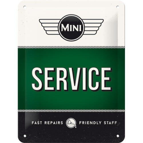 Nostalgic Art Tin Sign Mini Service Green 15x20