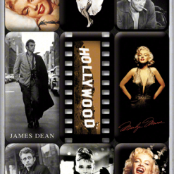 Nostalgic Art Magneetset Hollywood Celebrities (9x)