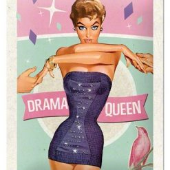 Nostalgic Art Tin Sign Drama Queen 15x20