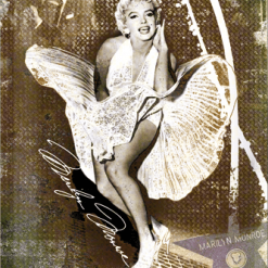 Nostalgic Art Tin Sign Marilyn Monroe Hollywood 20x30