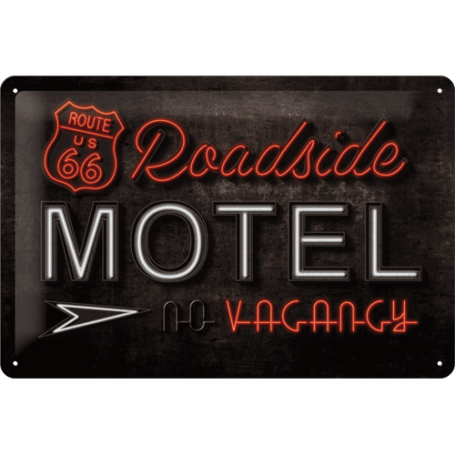 Nostalgic Art Tin Sign R66 Roadside Motel 30x20