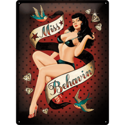 Nostalgic Art Tin Sign Miss Behavin 30x40