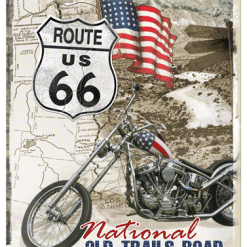 Nostalgic Art Tin Sign Route 66 Trails Road 30x40