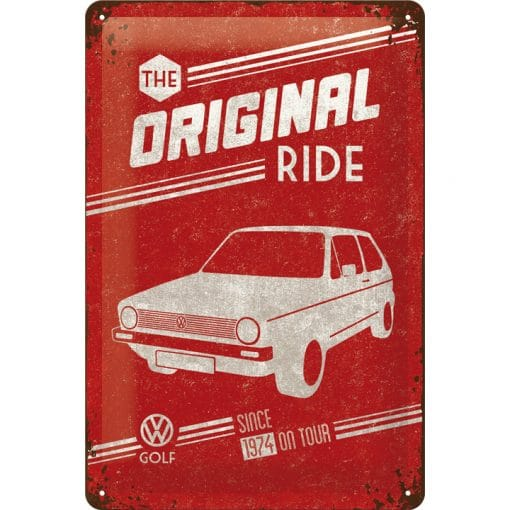 Nostalgic Art Tin Sign Volkswagen Golf - The Orignal Ride 20x30 cm