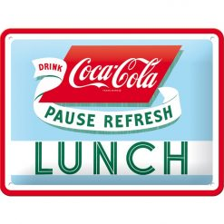 Nostalgic Art Tin Sign Coca-Cola Lunch 20x15 cm