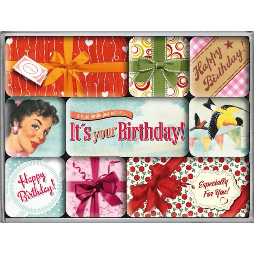 Nostalgic Art Magneetset It's your Birthday! (9x)