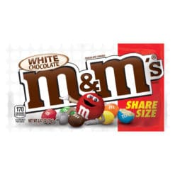 White chocolate choco's with the famous M Sharing Size.