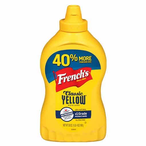 Fles French's Yellow Mustard Classic 567 gram.
