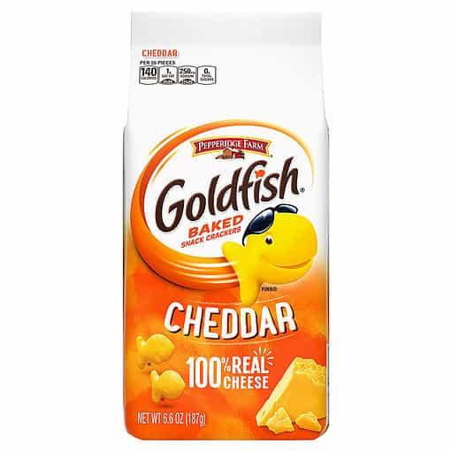 Goldfish Crackers Cheddar 187 gram.