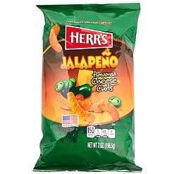 Herrs Jalapeno Cheese Curls zak van 198 gram.