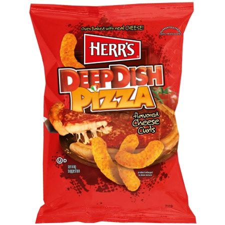 Herrs Deep Dish Pizza Cheese Curls 198 gram