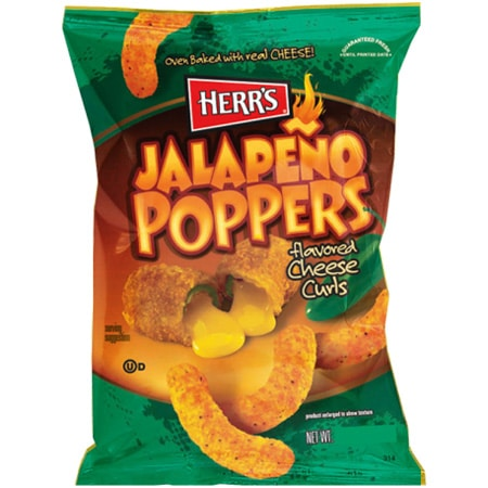 Herrs Jalapeno Poppers Cheese Curls 28 gram