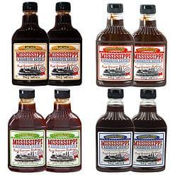 Mississippi barbecue saus pakket met 8 flesjes.
