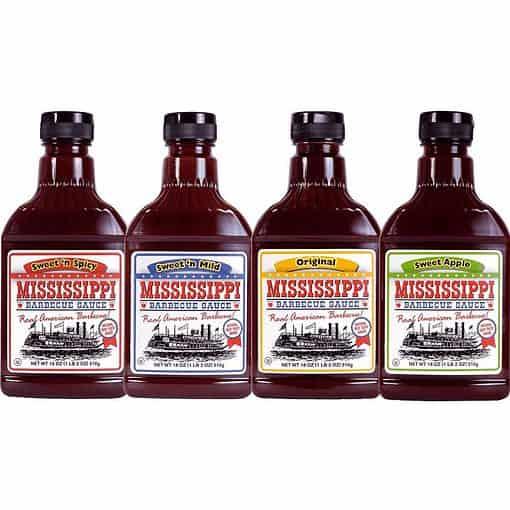 Mississippi BBQ Saus Pakket 4 flessen.