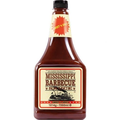 Mississippi BBQ Sauce Sweet n Spicy voordeelfles