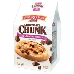 Pepperidge Farm Dark Double Chocolate Crispy cookies