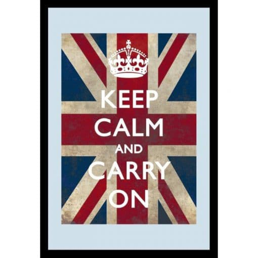 Bedrukte spiegel Keep Calm and Carry On