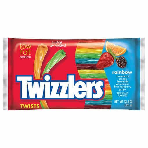 Twizzlers Rainbow grote zak 351 gram